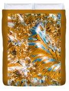 Golden Steel Swirl Duvet Cover