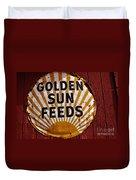 Golden Sun Feeds Duvet Cover