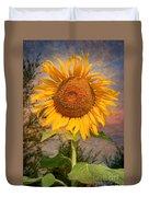 Golden Sunflower Duvet Cover by Adrian Evans