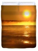Golden Sunrise Over The Water Duvet Cover