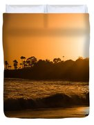 Golden Sunset At Laguna Duvet Cover