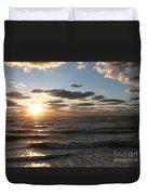 Golden Sunset  Clouds Duvet Cover