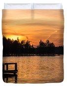 Golden Sunset Lake Horicon Lakehurst Nj Duvet Cover