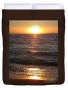 Golden Sunset At Destin Beach Duvet Cover
