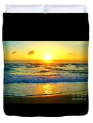 Golden Surprise Sunrise Duvet Cover