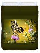 Golden Swallowtail Duvet Cover