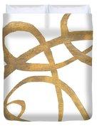 Golden Swirls Square II Duvet Cover