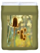 Golden Teasels Duvet Cover