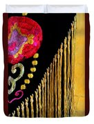 Golden Threads Duvet Cover