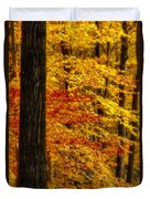 Golden Trees Glowing Duvet Cover