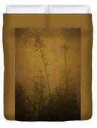 Golden Trees In Winter Duvet Cover