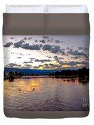 Golden Twilight Duvet Cover