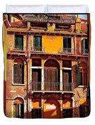Golden Venice Duvet Cover