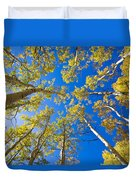Golden View Looking Up Duvet Cover