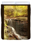Golden Waterfall October In Ohio Duvet Cover