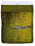 Golden Waters Duvet Cover