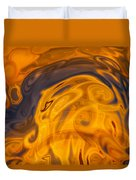 Golden Waves Of Blue Duvet Cover