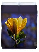 Golden Yellow Magnolia Blossom Duvet Cover