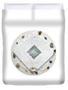 Golden Jerusalem Lemuria Healed Love Duvet Cover