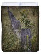 Goldenrod By The Fence Duvet Cover