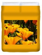 Golden Poppies Duvet Cover