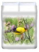 Goldfinch #3 By Kerri Farley Duvet Cover