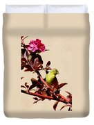 Goldfinch In Tree 031015a Duvet Cover