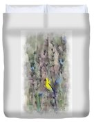 Goldfinch In Wildflowers Duvet Cover