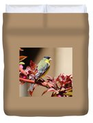 Goldfinch On Branch 031015aa Duvet Cover
