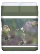Goldfinch On Echinacia Duvet Cover