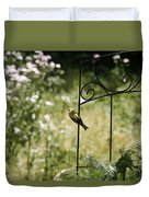 Goldfinch On The Lookout -19 Duvet Cover