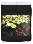 Goldfish And Water Lily 1 Duvet Cover