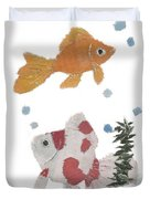 Goldfish Art Duvet Cover