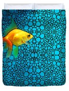 Goldfish Study 3 - Stone Rock'd Art By Sharon Cummings Duvet Cover