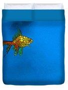 Goldfish Study 4 - Stone Rock'd Art By Sharon Cummings Duvet Cover