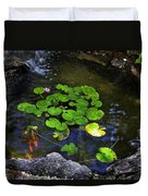 Goldfish With Lily Pads Duvet Cover