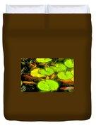 On Goldfish Pond Artwork Duvet Cover