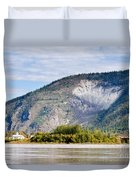Goldrush Town Dawson City From Yukon River Canada Duvet Cover