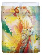 Golf Action 01 Duvet Cover by Catf