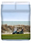 Golf Cart At Kiawah Island Golf Course Duvet Cover