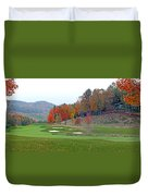 Golf Course At Lake Toxaway Duvet Cover