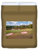 Golf Course Beautiful Landscape On Sunny Day Duvet Cover