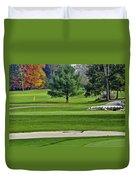 Golf Course Guardians Duvet Cover
