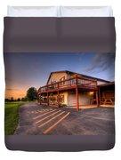 Golf Course Sunset In Salem Ohio Duvet Cover