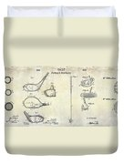 Golf Patent History Drawing Duvet Cover