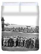 Golf Play At St. Andrews. Duvet Cover