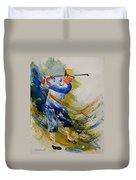 Golf Player Duvet Cover