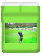 Golf Swing Drive Duvet Cover