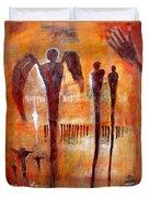 Golgotha Petroglyph Duvet Cover