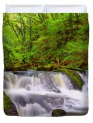 Golitha Falls And River Fowey Duvet Cover